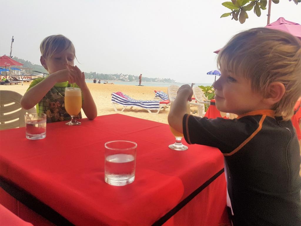 Lunch on the beach in Unawatuna