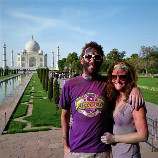 Visiting the Taj Mahal during Holi was a colourful experience
