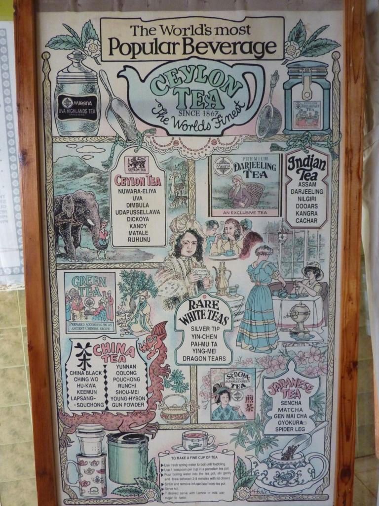 Ceylon tea poster