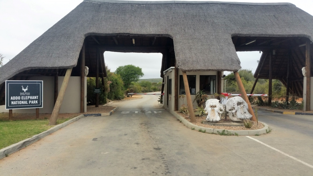 Addo Elephant National Park entrance gate