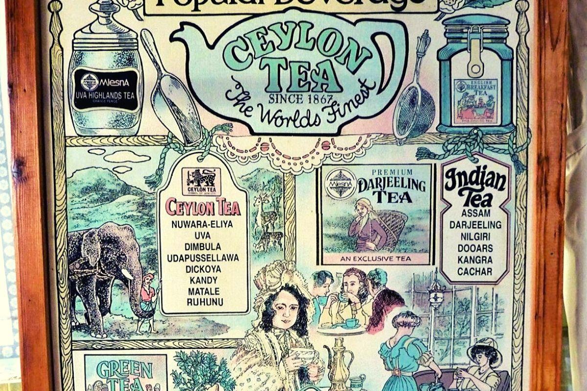 Vintage Ceylon Tea Poster
