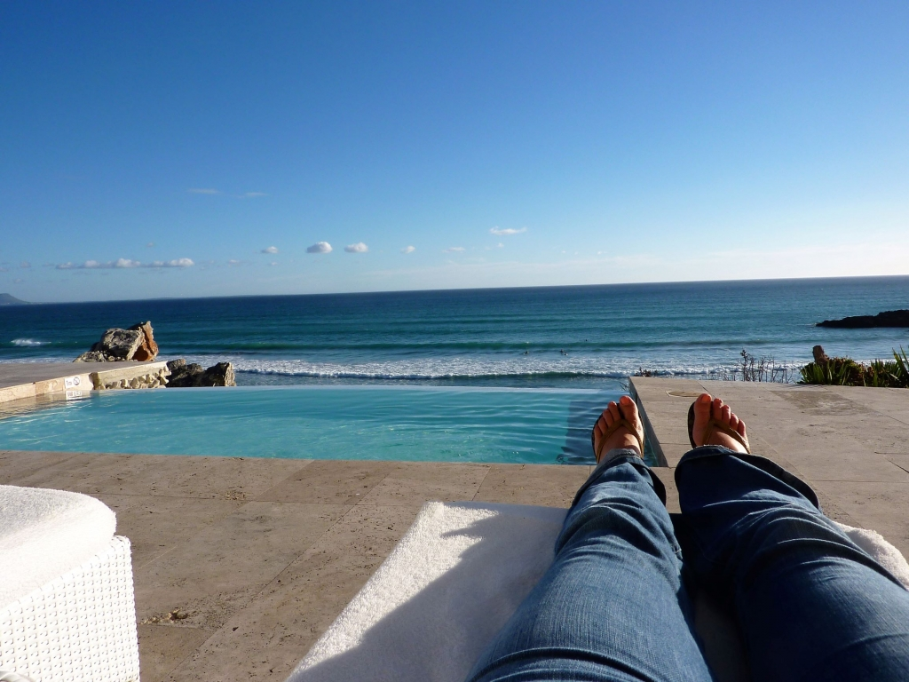 Birkenhead House in Hermanus was a great place to sit and spot whales