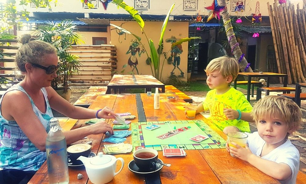 Playing Monopoly with the kids
