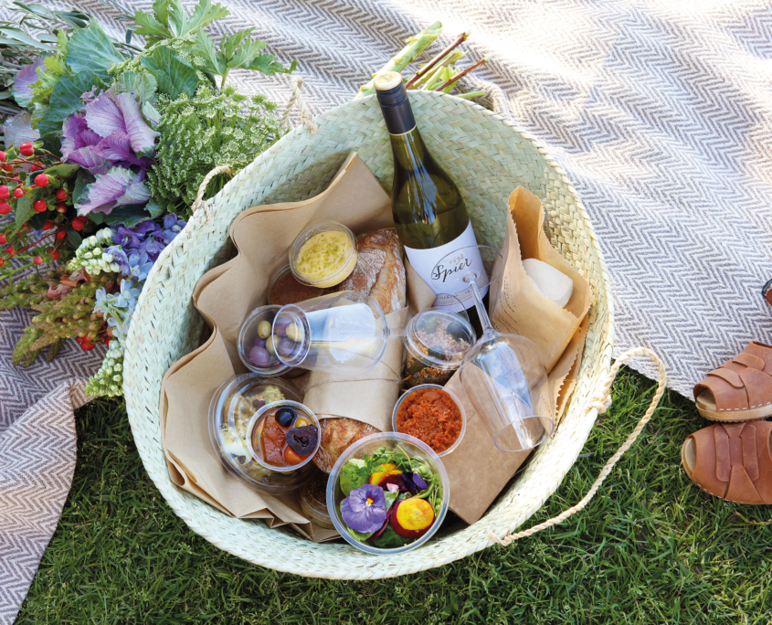 Who wouldn't be tempted this this beautiful picnic basket at Spier?