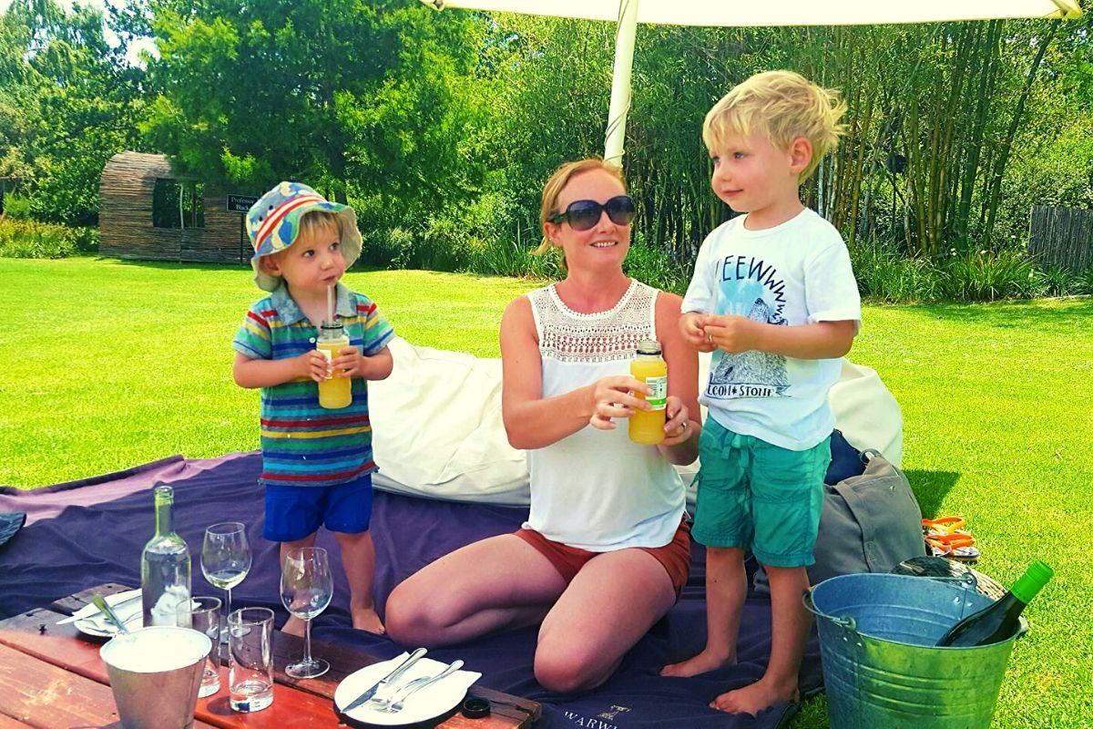 Warwick Wine farm picnic