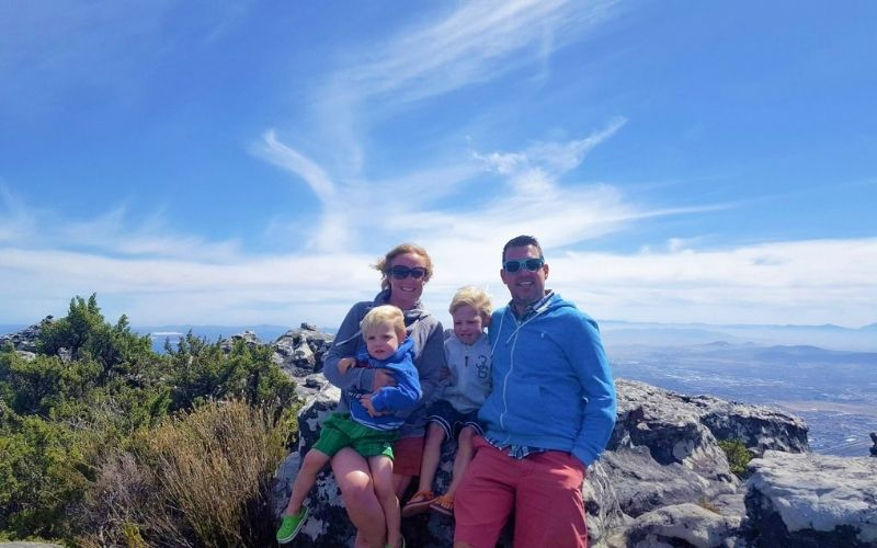 Windy weather on Table Mountain