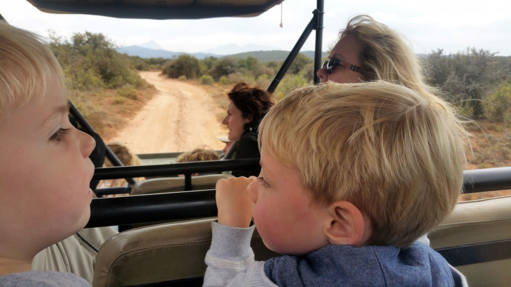 The kids were great spotters on safari