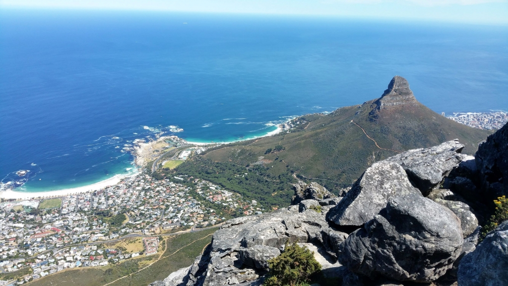 Beautiful views from the top of Table Mountain