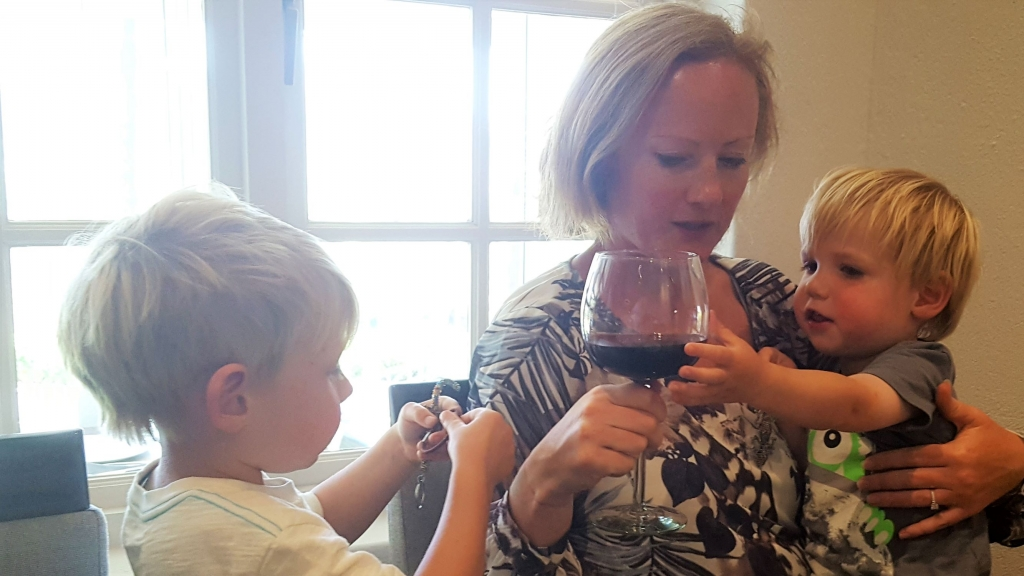 George desperate to try mummy's wine