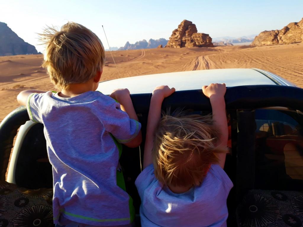 4x4 tour of Wadi Rum with kids