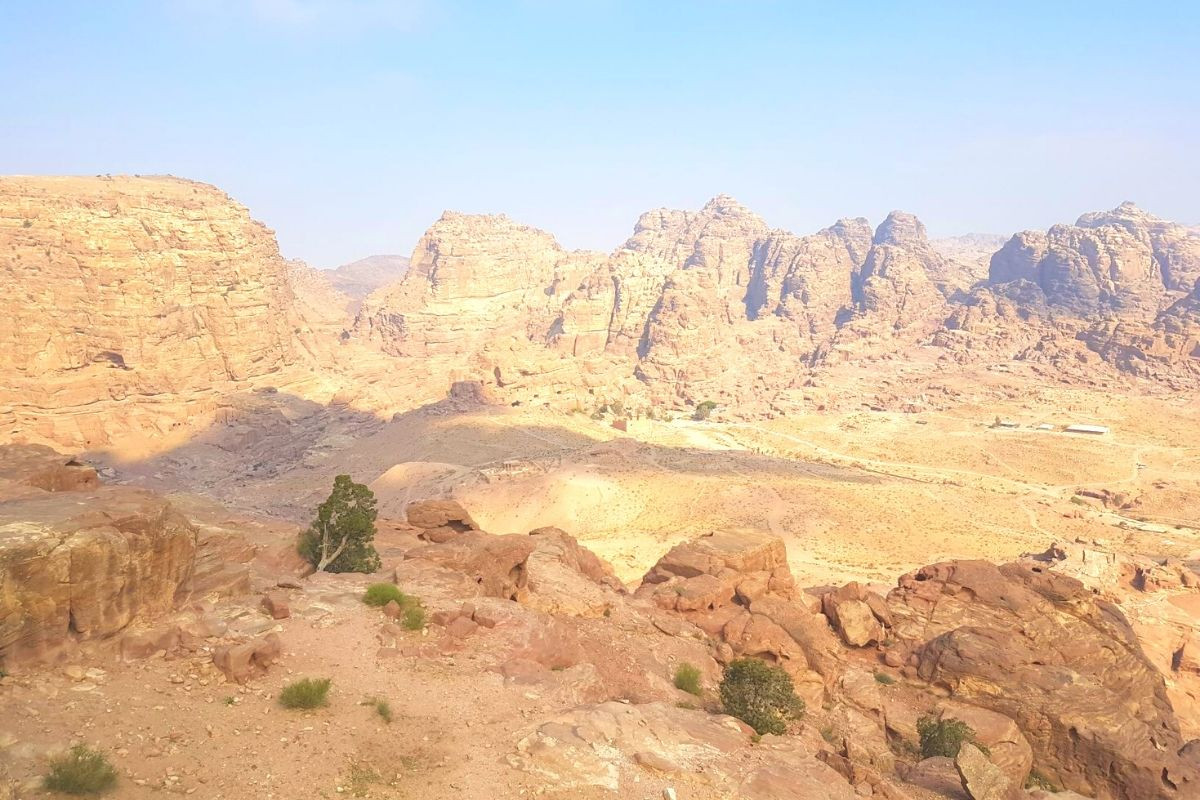 View from the High Place of Sacrifice in Petra