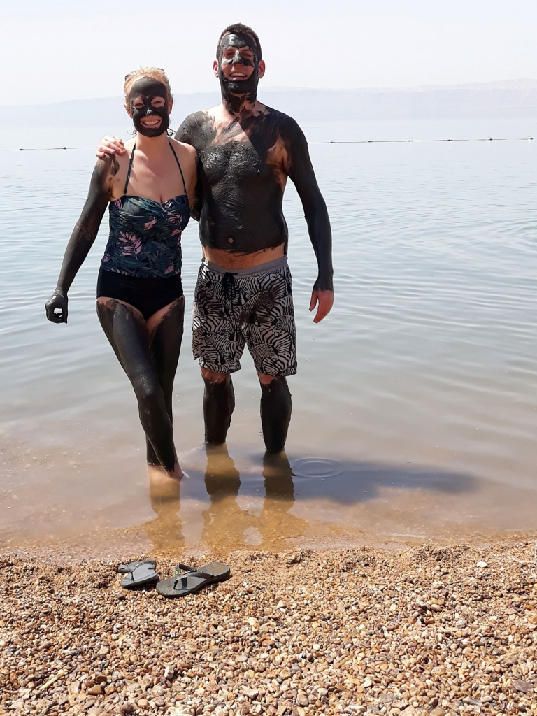 Mad bathing in the Dead Sea