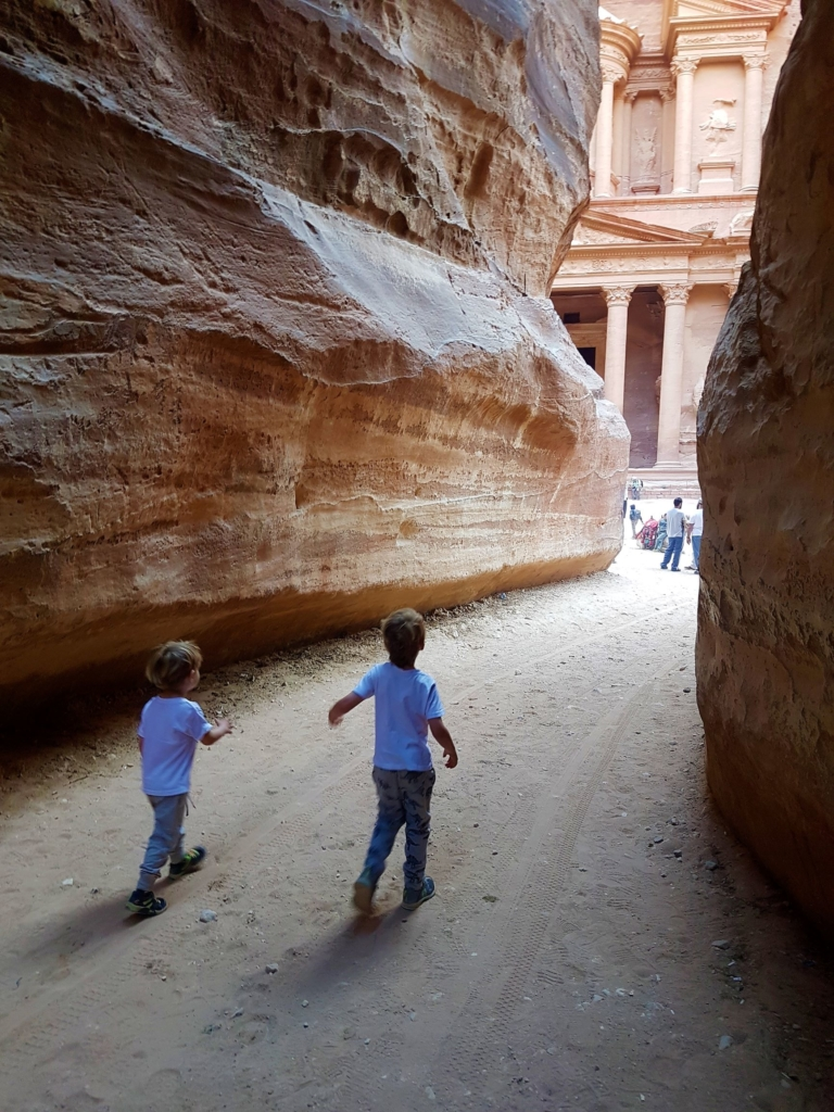 The entrance to Petra opposite the Treasury