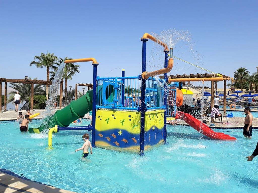 The Crowne Plaza Dead Sea pool area