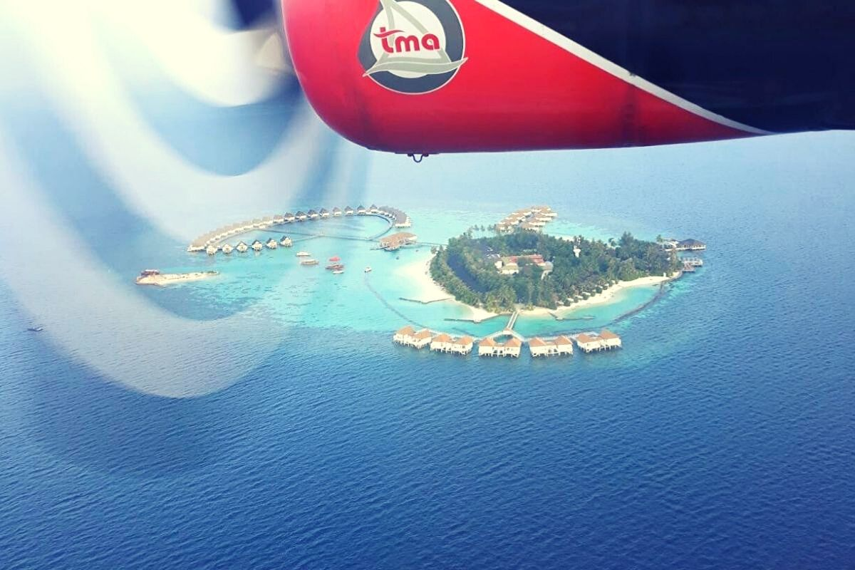 Arrival at Centara Grand Maldives by seaplane