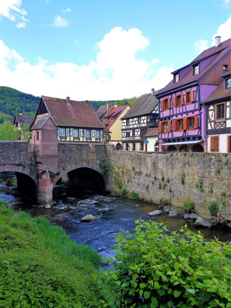 The River Weiss flowing through the picturesque Kayersberg