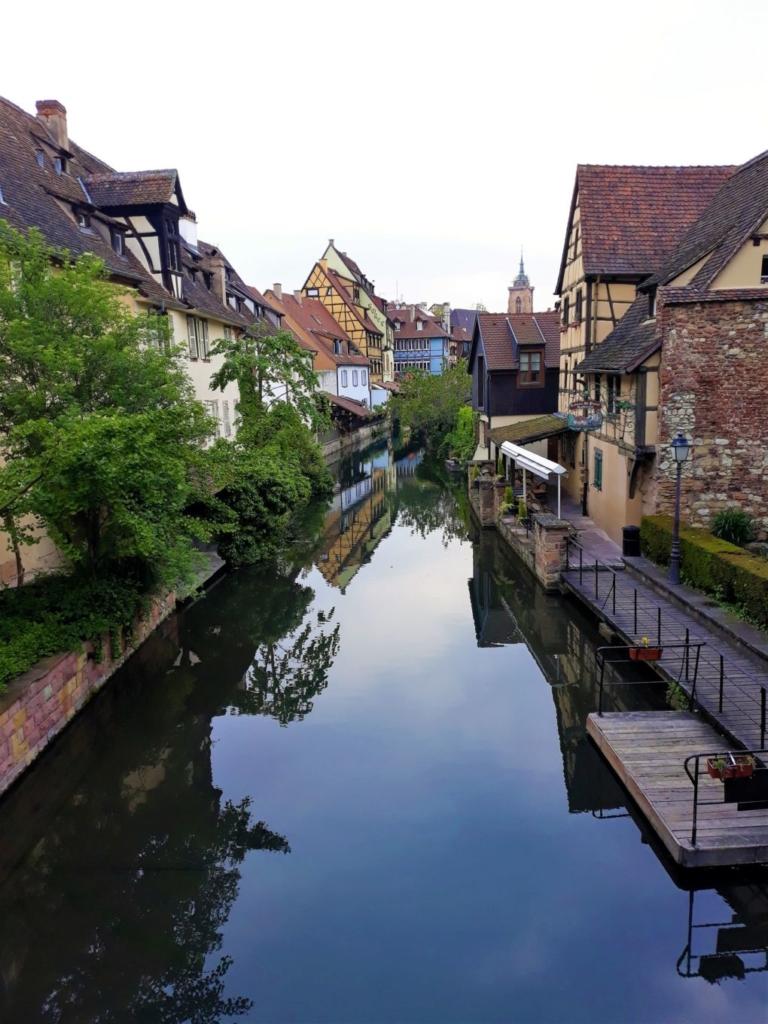 View of La Petit Venise in Colmar from the bridge on the Boulevard Saint-Pierre