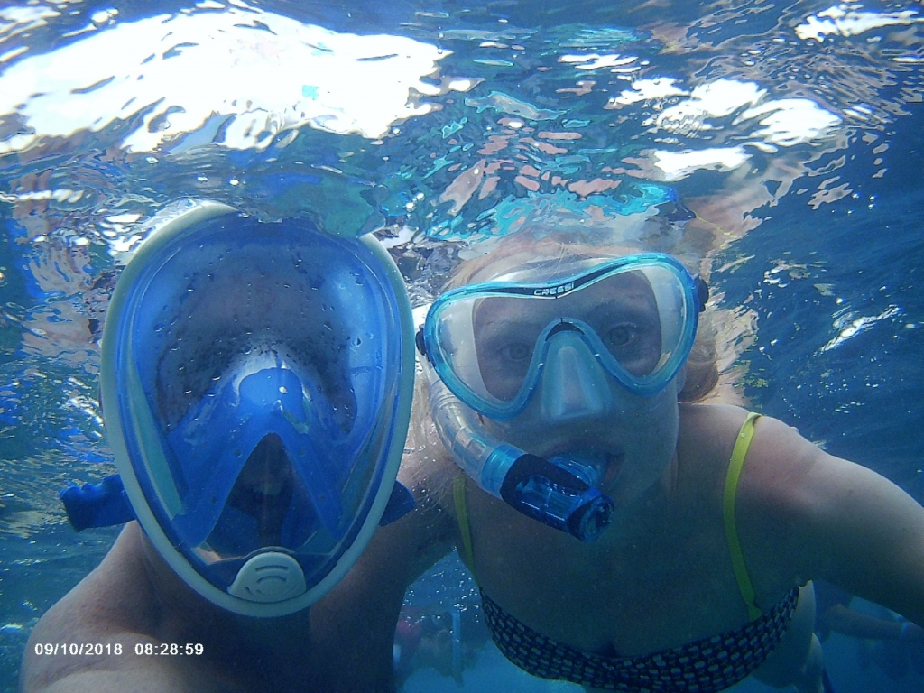 A rare treat to snorkel together while the kids were in kids club