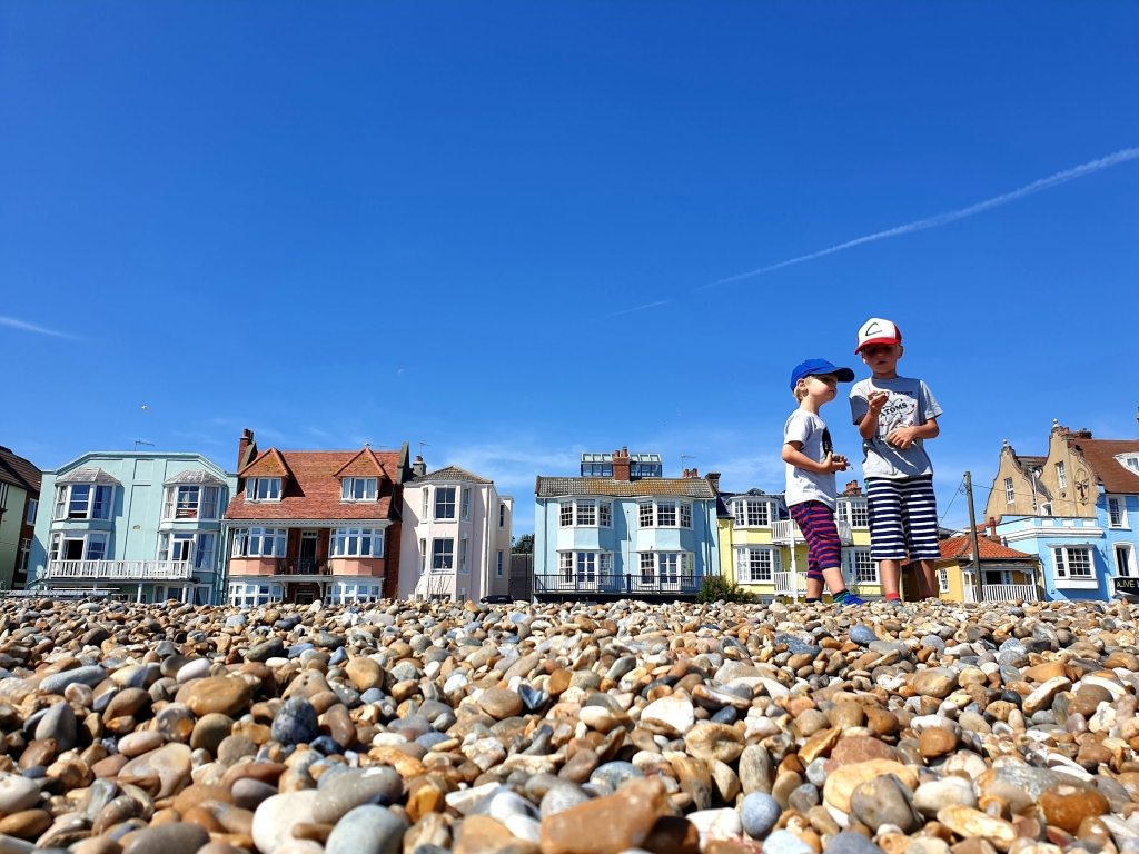 Victorian seafront houses at Aldeburgh