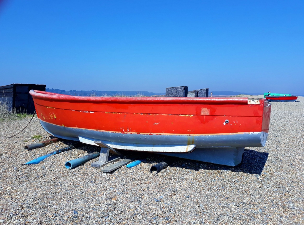 Fishing boat at Dunwich beach