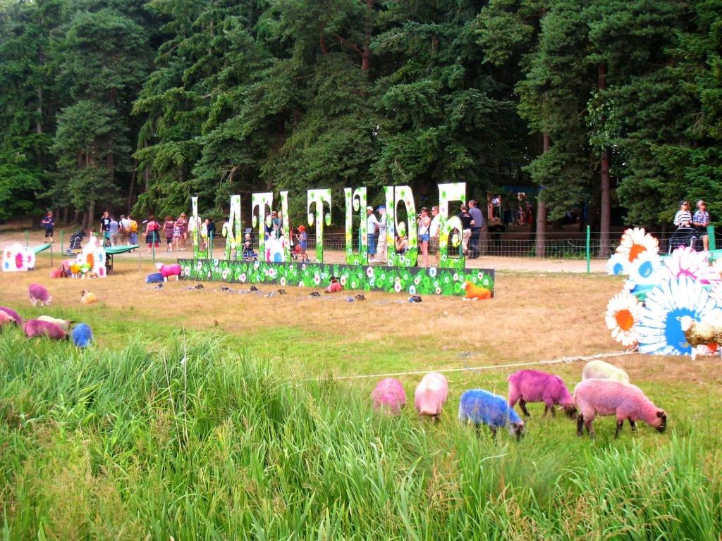 The signature colourful sheep of Latitude festival