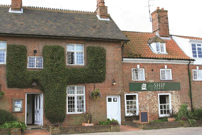 The quaint Ship Inn in Dunwich