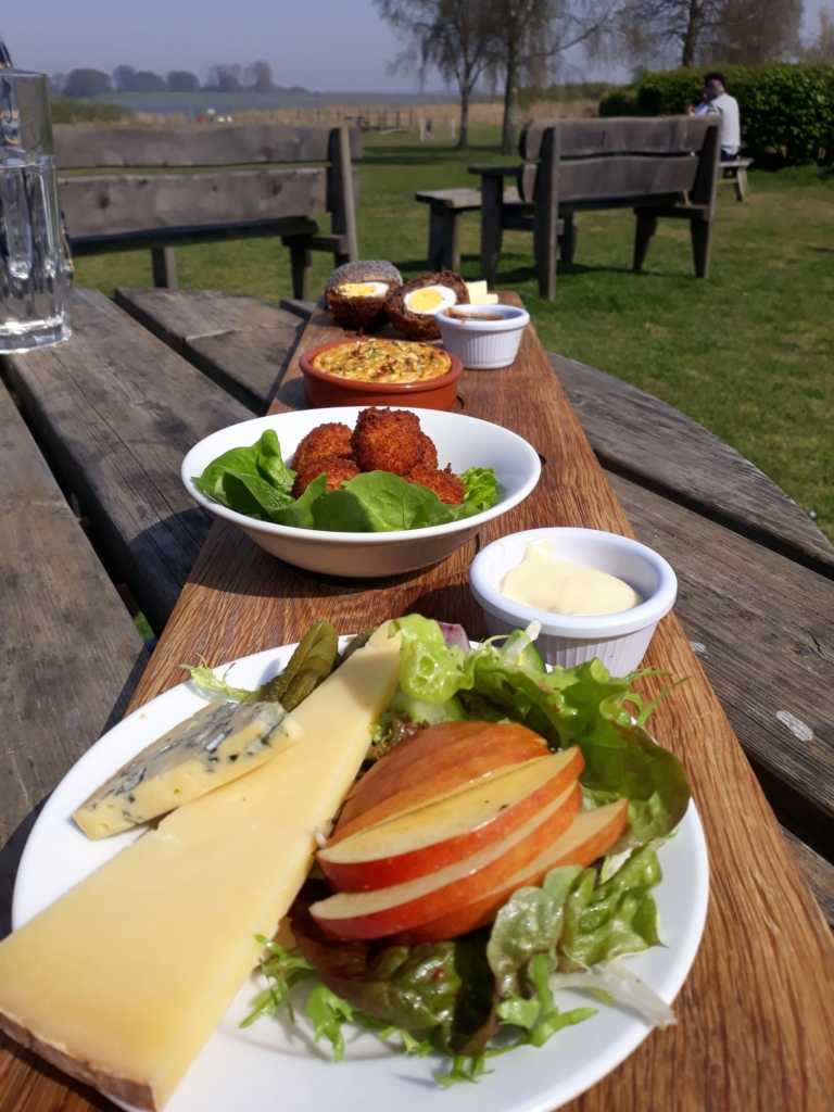 Enjoy a delicious tapas selection with a view at the White Hart in Blythburgh