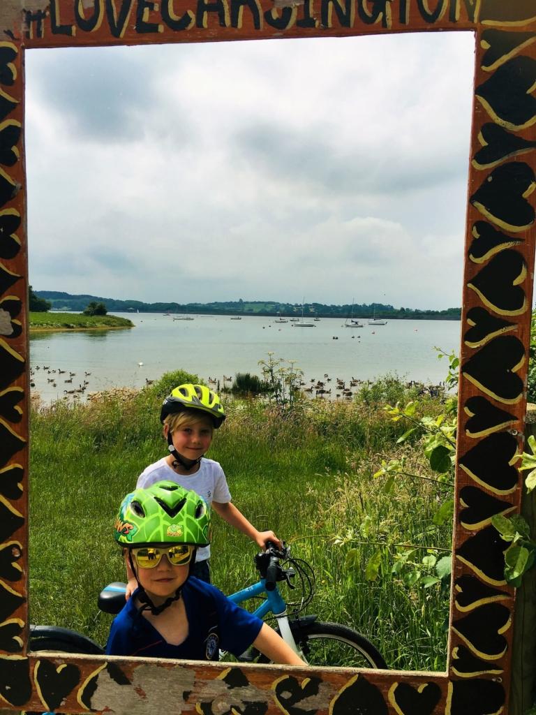 Bike riding with the kids around Carsington Water