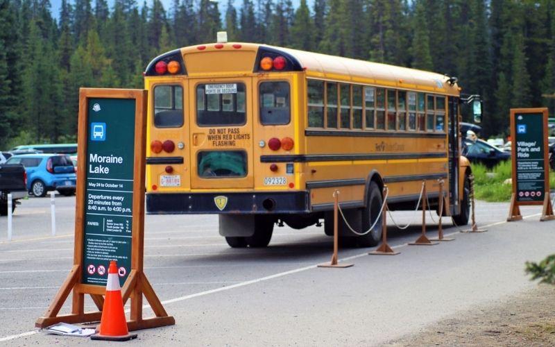 Lake Louise shuttle bus service.