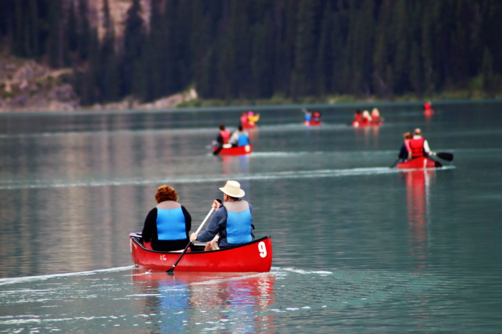 Kayaks for hire at Lake Louise