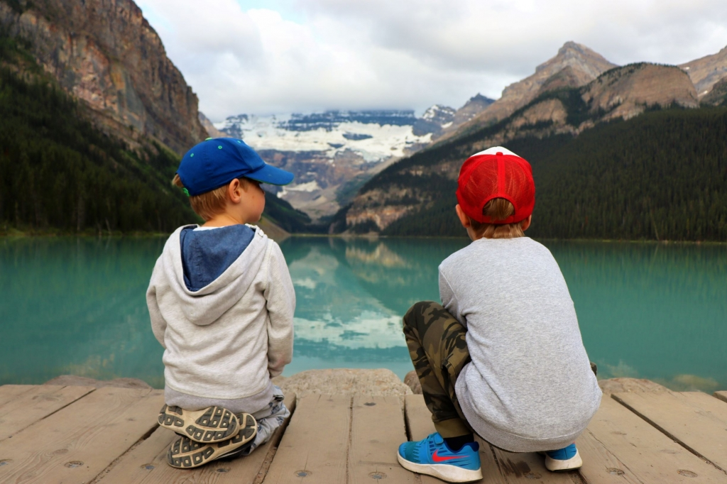 Visiting Lake Louise in Banff with kids