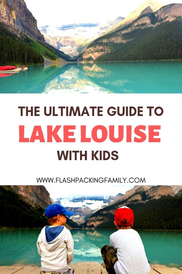 Lake Louise with kids