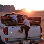 Wadi Rum visit with kids 4x4 jeep