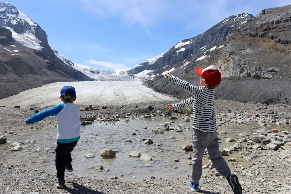 The Athabasca Glacier in Jasper National Park