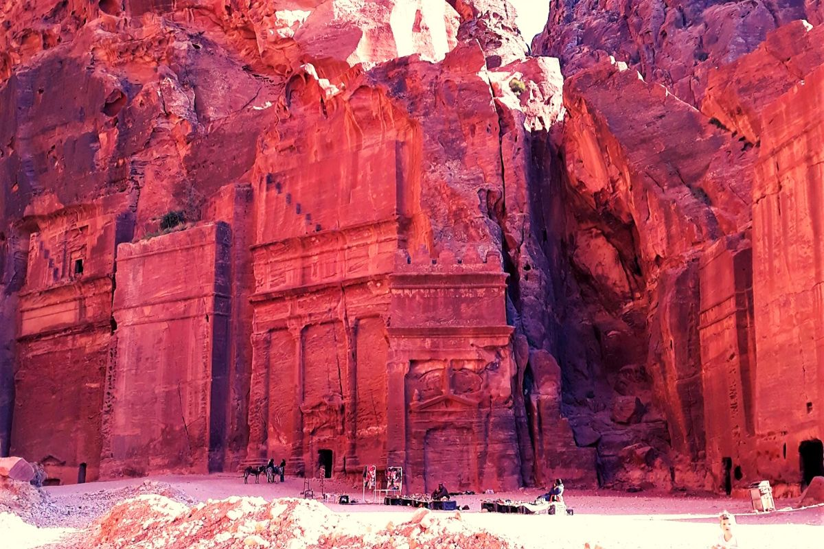 Rose coloured sandstone of Petra