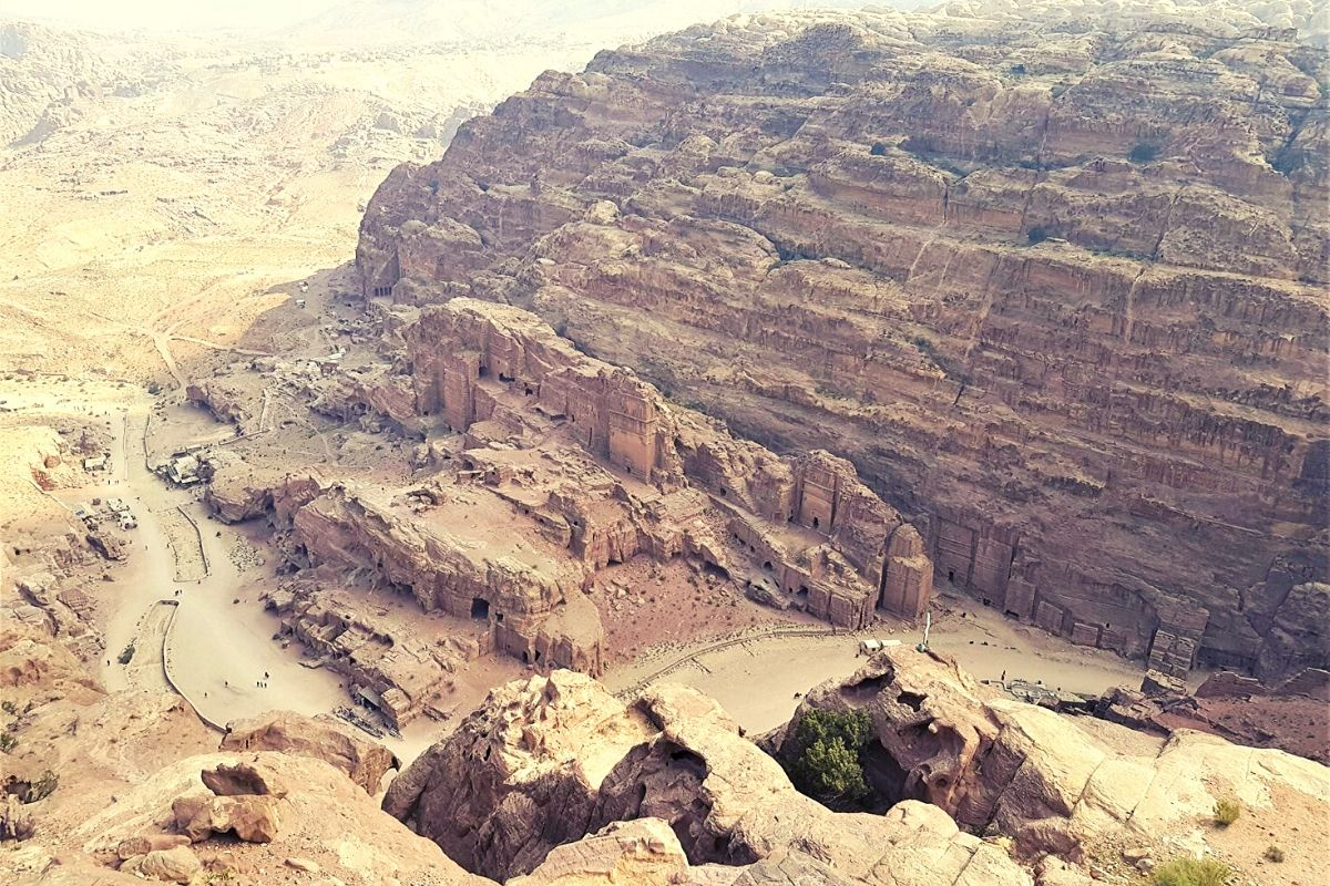 View from High Place of Sacrifice in Petra