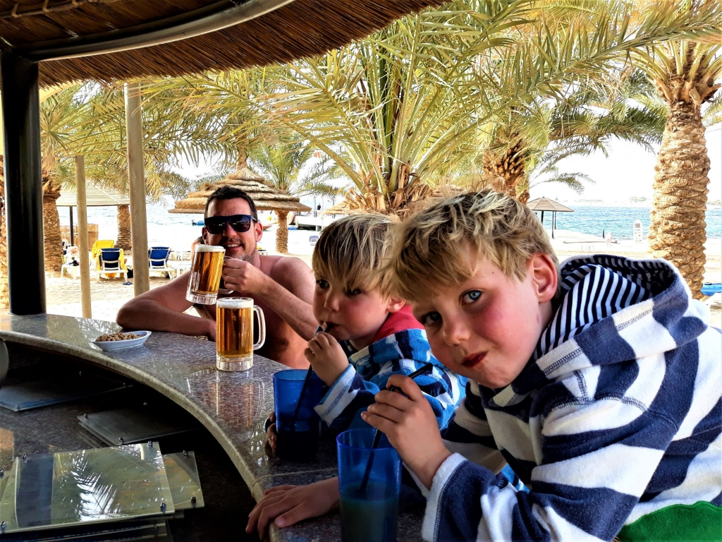 Visiting Jordan with kids: relaxing at Movenpick Tala Bay