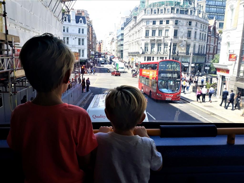 Kids on a London bus
