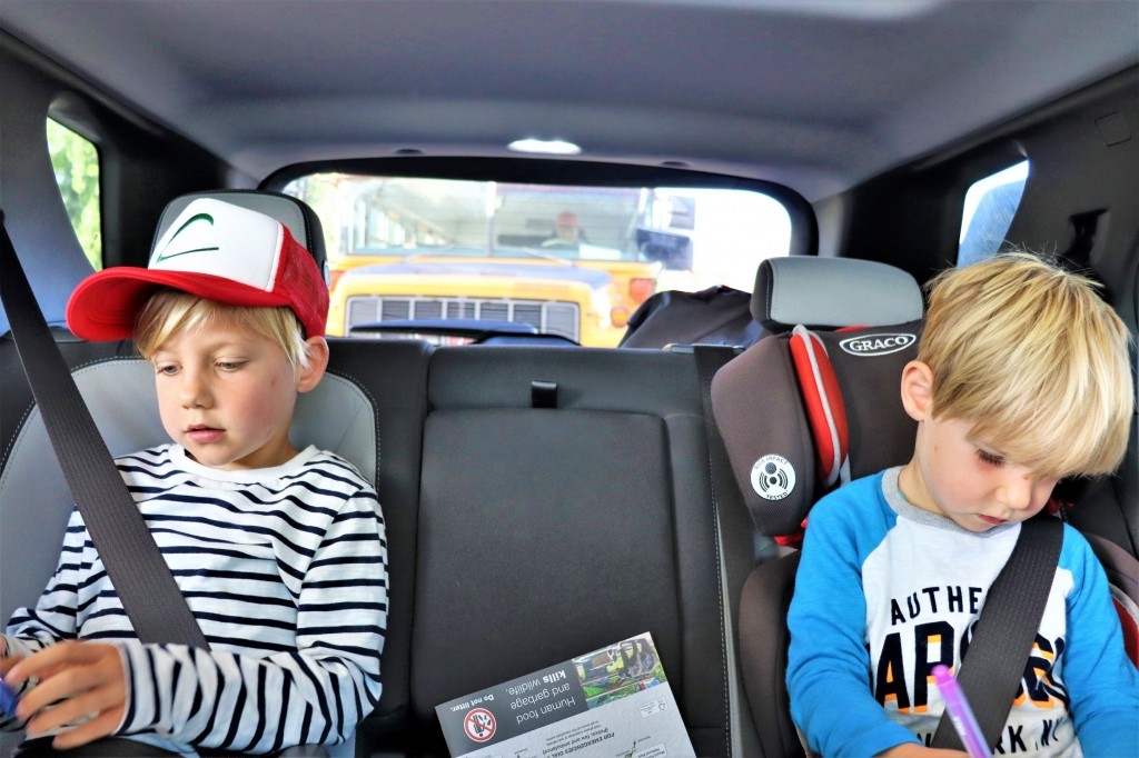 In-car entertainment for the kids: marking down the animals they spot in Jasper National Park