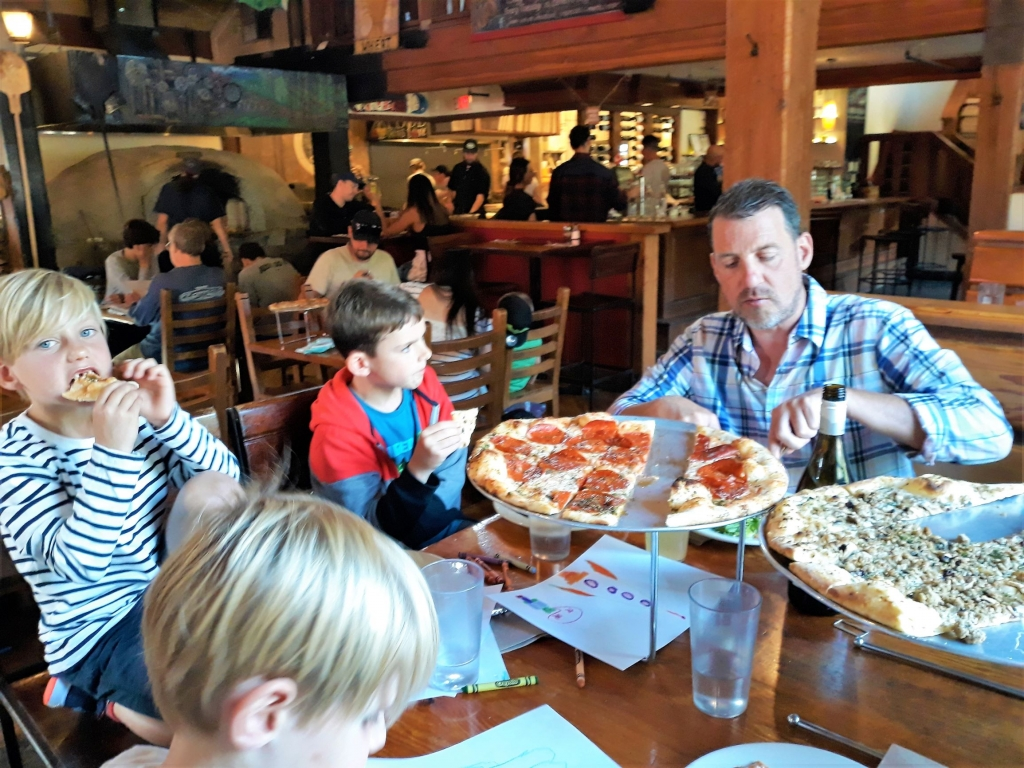Delicious pizza at Creekbread in Whistler Creekside