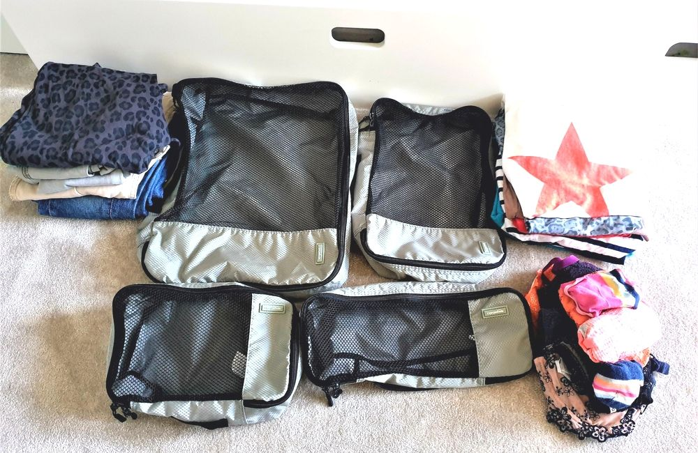 Organising your clothes into packing cubes