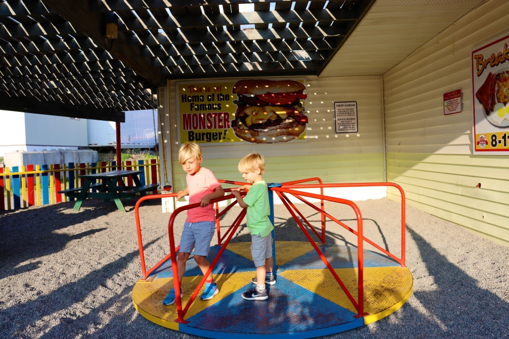 The playground at Hungry Herbie's in Cache Creek