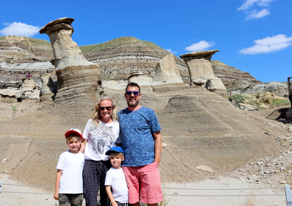 Visiting the Hoodoos near Drumheller