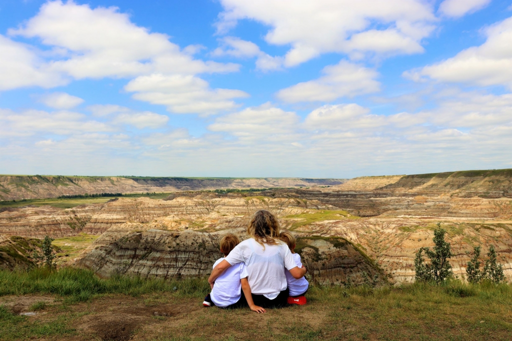 Looking out over the Horse Thief Canyon, Drumheller