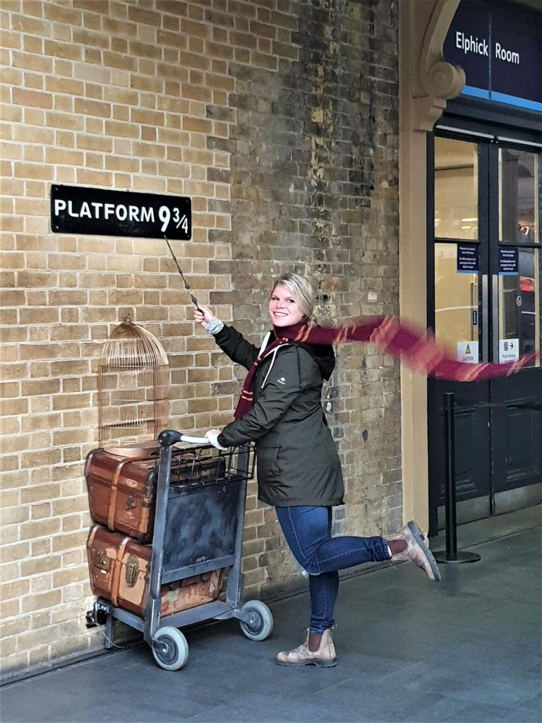 Harry Potter's Platform 9 ¾ at Kings Cross St Pancras