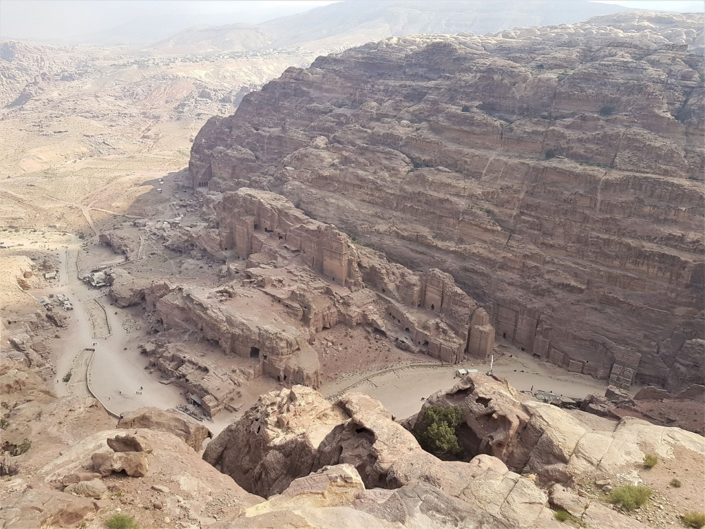 Visiting Petra with kids: view from the high place of sacrifice