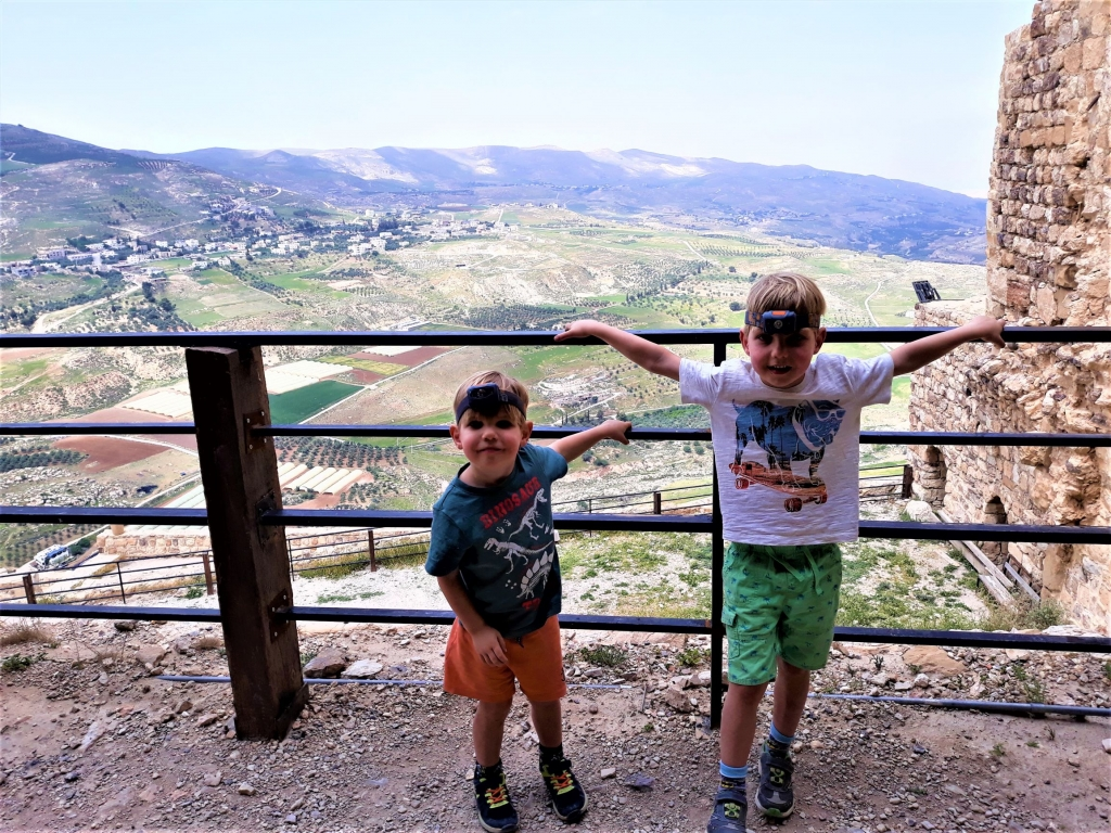 Visiting Jordan with kids: Enjoying the views from Kerak Castle