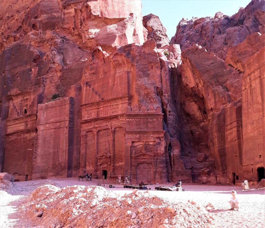 Rose red sandstone in Petra