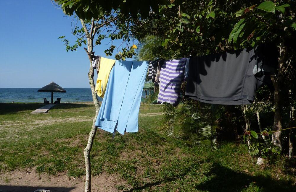 Using our versatile travel washing line