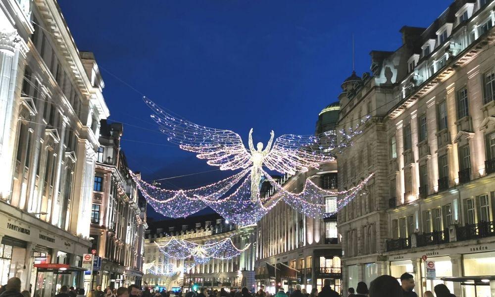 Christmas lights on Regent Street